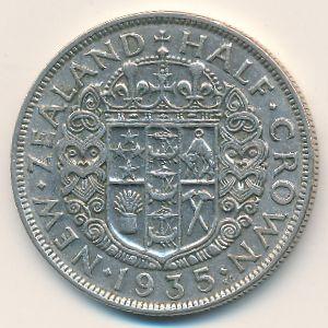 Новая Зеландия, 1/2 кроны (1935 г.)