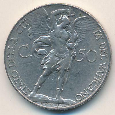 Ватикан, 50 чентезимо (1936 г.)