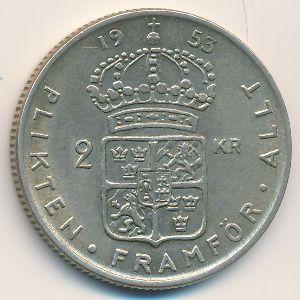 Швеция, 2 кроны (1953 г.)