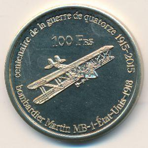 Остров Тромлен, 100 франков (2015 г.)