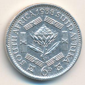 ЮАР, 6 пенсов (1938 г.)