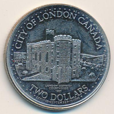 Канада, 2 сувенирных доллара (1993 г.)