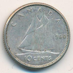 Канада, 10 центов (1960 г.)