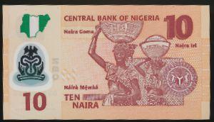 Нигерия, 10 найра (2017 г.)
