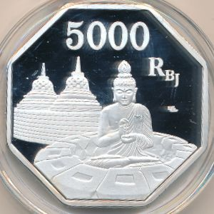 Ява, 5000 рупий (2018 г.)