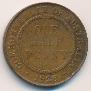 Австралия, 1/2 пенни (1928 г.)