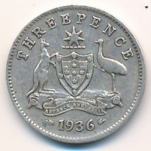 Австралия, 3 пенса (1936 г.)