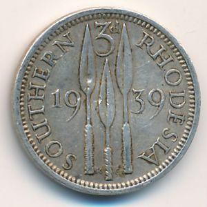 Южная Родезия, 3 пенса (1939 г.)