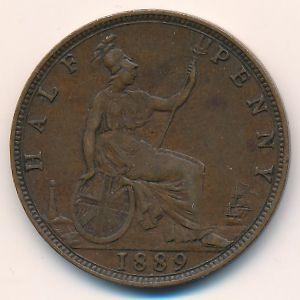 Великобритания, 1/2 пенни (1889 г.)