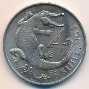 Гамбия, 4 шиллинга (1966 г.)