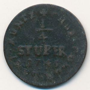 Кельн, 1/4 стюбера (1745 г.)