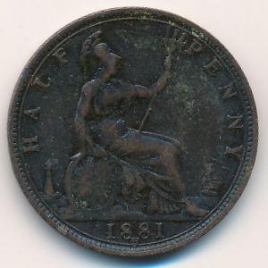 Великобритания, 1/2 пенни (1881 г.)
