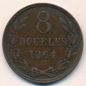 Гернси, 8 дублей (1864 г.)