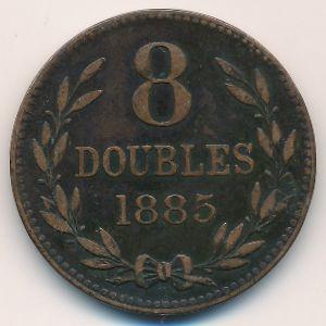 Гернси, 8 дублей (1885 г.)