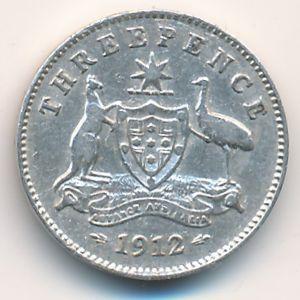 Австралия, 3 пенса (1912 г.)