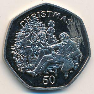 Остров Мэн, 50 пенсов (1999 г.)