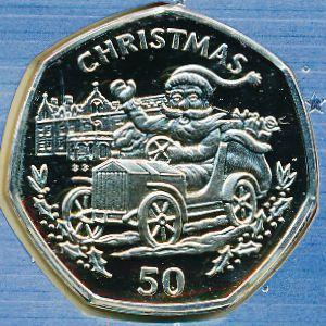 Гибралтар, 50 пенсов (1993 г.)