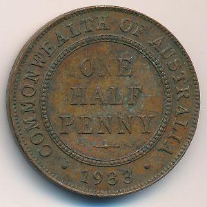 Австралия, 1/2 пенни (1933 г.)