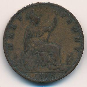 Великобритания, 1/2 пенни (1888 г.)