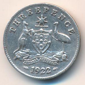 Австралия, 3 пенса (1922 г.)