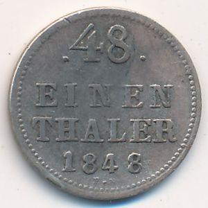 Мекленбург-Шверин, 1/48 талера (1848 г.)