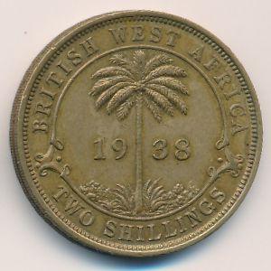 Британская Западная Африка, 2 шиллинга (1938 г.)