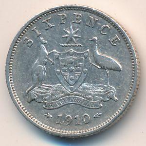 Австралия, 6 пенсов (1910 г.)