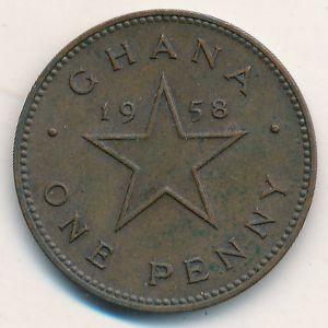 Гана, 1 пенни (1958 г.)