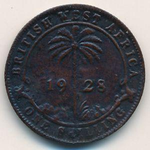 Британская Западная Африка, 1 шиллинг (1928 г.)