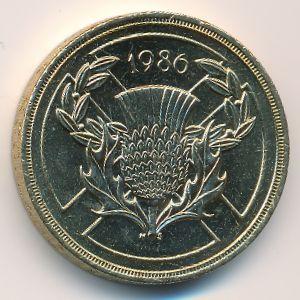 Великобритания, 2 фунта (1986 г.)