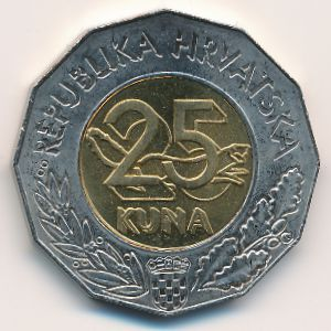 Хорватия, 25 кун (1999 г.)