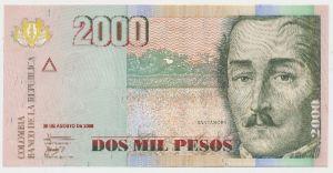 Колумбия, 2000 песо (2008 г.)