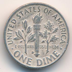 США, 1 дайм (1952 г.)