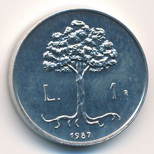 Сан-Марино, 1 лира (1987 г.)
