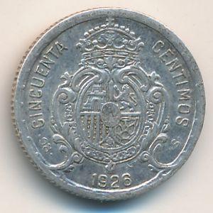 Испания, 50 сентимо (1926 г.)