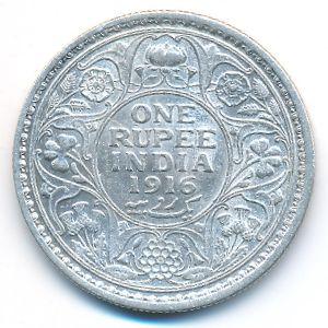 Британская Индия, 1 рупия (1916 г.)