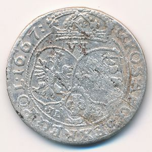 Речь Посполитая, 6 грошей (1667 г.)