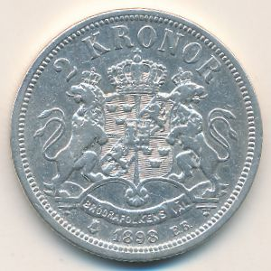 Швеция, 2 кроны (1898 г.)