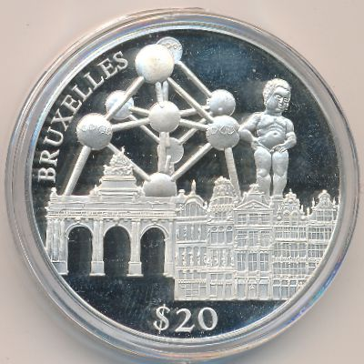 Либерия, 20 долларов (2000 г.)