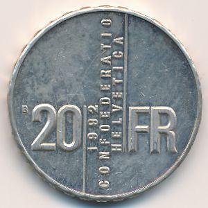 Швейцария, 20 франков (1992 г.)