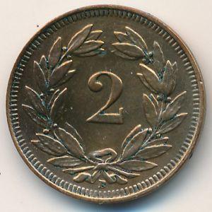 Швейцария, 2 раппена (1914 г.)