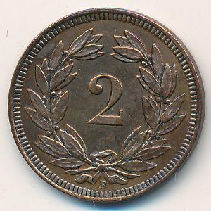 Швейцария, 2 раппена (1915 г.)