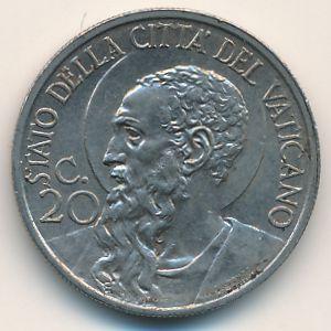Ватикан, 20 чентезимо (1934 г.)