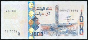 Алжир, 1000 динаров (2018 г.)