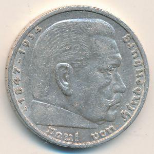 Третий Рейх, 5 рейхсмарок (1935 г.)