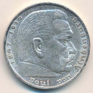 Третий Рейх, 5 рейхсмарок (1936 г.)