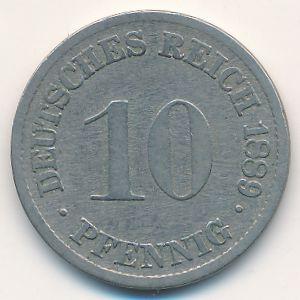 Германия, 10 пфеннигов (1889 г.)