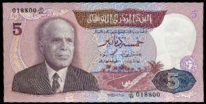 Тунис, 5 динаров (1983 г.)
