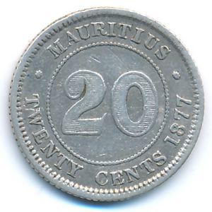 Маврикий, 20 центов (1877 г.)