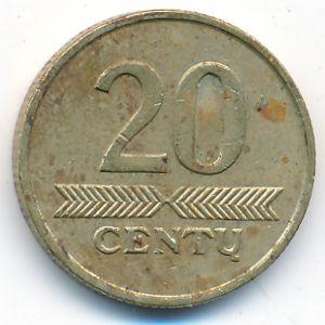 Литва, 20 центов (2007 г.)